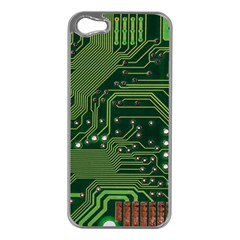Board Computer Chip Data Processing Apple Iphone 5 Case (silver)