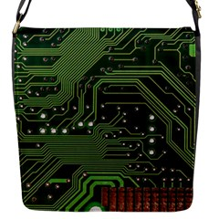 Board Computer Chip Data Processing Flap Messenger Bag (s)