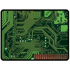 Board Computer Chip Data Processing Double Sided Fleece Blanket (large)