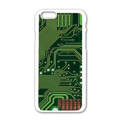 Board Computer Chip Data Processing Apple Iphone 6/6s White Enamel Case