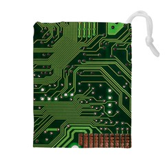 Board Computer Chip Data Processing Drawstring Pouches (extra Large)