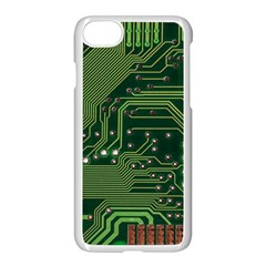 Board Computer Chip Data Processing Apple Iphone 8 Seamless Case (white)