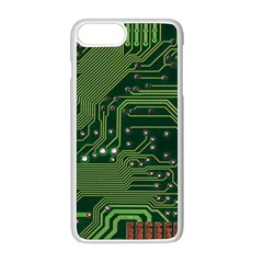 Board Computer Chip Data Processing Apple Iphone 8 Plus Seamless Case (white)