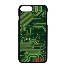 Board Computer Chip Data Processing Apple Iphone 8 Plus Seamless Case (black)