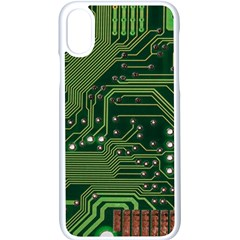 Board Computer Chip Data Processing Apple Iphone X Seamless Case (white)