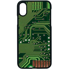 Board Computer Chip Data Processing Apple Iphone X Seamless Case (black)