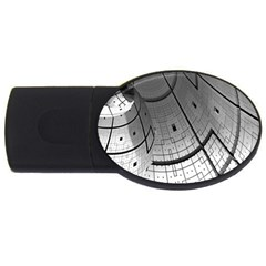 Graphic Design Background Usb Flash Drive Oval (4 Gb)
