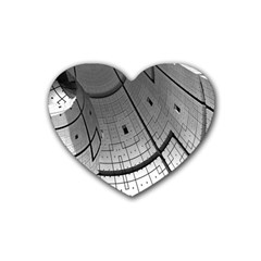 Graphic Design Background Rubber Coaster (heart)