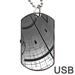 Graphic Design Background Dog Tag Usb Flash (two Sides)
