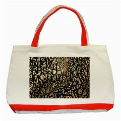 Pattern Design Texture Wallpaper Classic Tote Bag (red)