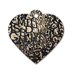Pattern Design Texture Wallpaper Dog Tag Heart (one Side)