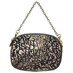 Pattern Design Texture Wallpaper Chain Purses (one Side)