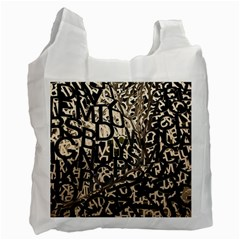 Pattern Design Texture Wallpaper Recycle Bag (one Side)