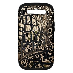 Pattern Design Texture Wallpaper Samsung Galaxy S Iii Hardshell Case (pc+silicone)