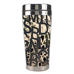 Pattern Design Texture Wallpaper Stainless Steel Travel Tumblers