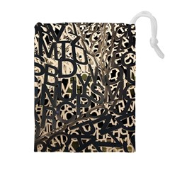 Pattern Design Texture Wallpaper Drawstring Pouches (extra Large)