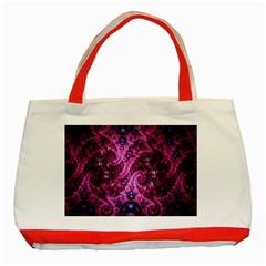 Fractal Art Digital Art Classic Tote Bag (red)