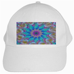 Fractal Curve Decor Twist Twirl White Cap