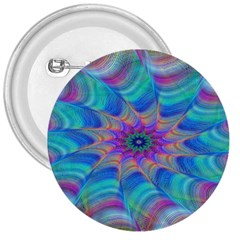 Fractal Curve Decor Twist Twirl 3  Buttons