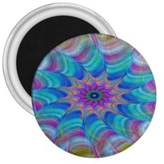Fractal Curve Decor Twist Twirl 3  Magnets