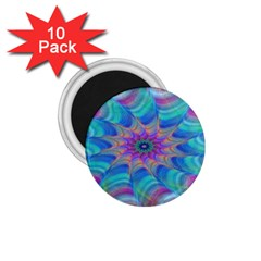 Fractal Curve Decor Twist Twirl 1 75  Magnets (10 Pack)