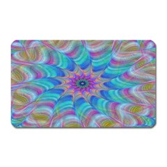 Fractal Curve Decor Twist Twirl Magnet (rectangular)