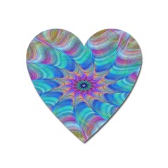Fractal Curve Decor Twist Twirl Heart Magnet