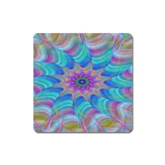 Fractal Curve Decor Twist Twirl Square Magnet
