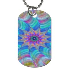 Fractal Curve Decor Twist Twirl Dog Tag (one Side)