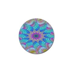 Fractal Curve Decor Twist Twirl Golf Ball Marker