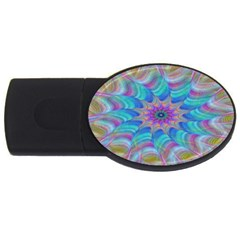 Fractal Curve Decor Twist Twirl Usb Flash Drive Oval (2 Gb)
