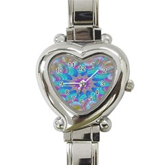 Fractal Curve Decor Twist Twirl Heart Italian Charm Watch