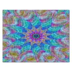 Fractal Curve Decor Twist Twirl Rectangular Jigsaw Puzzl