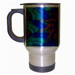 Fractal Curve Decor Twist Twirl Travel Mug (silver Gray)