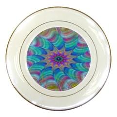 Fractal Curve Decor Twist Twirl Porcelain Plates
