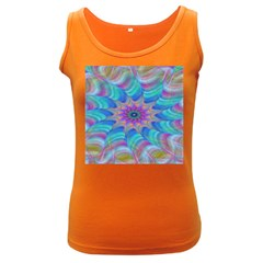 Fractal Curve Decor Twist Twirl Women s Dark Tank Top