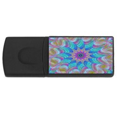 Fractal Curve Decor Twist Twirl Rectangular Usb Flash Drive