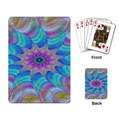 Fractal Curve Decor Twist Twirl Playing Card
