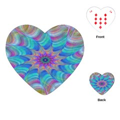 Fractal Curve Decor Twist Twirl Playing Cards (heart)