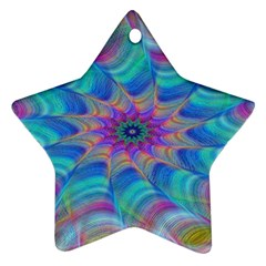Fractal Curve Decor Twist Twirl Star Ornament (two Sides)