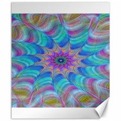 Fractal Curve Decor Twist Twirl Canvas 8  X 10