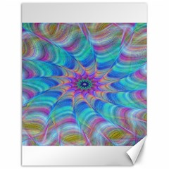 Fractal Curve Decor Twist Twirl Canvas 12  X 16