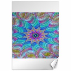 Fractal Curve Decor Twist Twirl Canvas 12  X 18