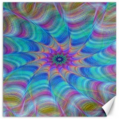 Fractal Curve Decor Twist Twirl Canvas 16  X 16