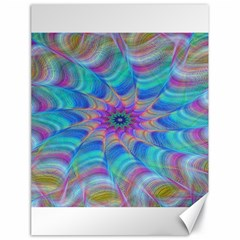 Fractal Curve Decor Twist Twirl Canvas 18  X 24