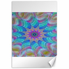 Fractal Curve Decor Twist Twirl Canvas 20  X 30