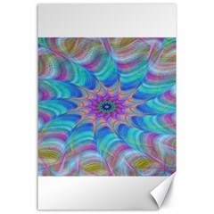 Fractal Curve Decor Twist Twirl Canvas 24  X 36