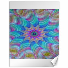 Fractal Curve Decor Twist Twirl Canvas 36  X 48