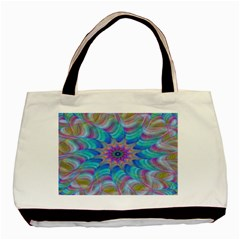 Fractal Curve Decor Twist Twirl Basic Tote Bag (two Sides)