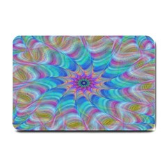 Fractal Curve Decor Twist Twirl Small Doormat